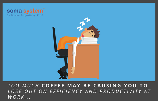 Too much coffee may be causing you to lose out on efficiency and productivity at work